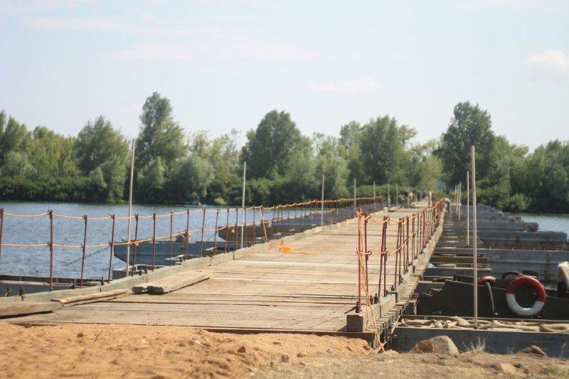 В Днепре построили понтонный мост на Монастырский остров: как это выглядит, фото-1