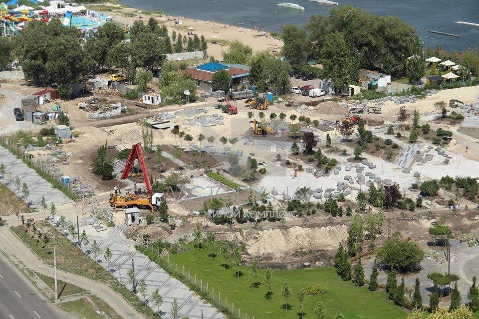 Строительство сквера «Прибрежный» в Днепре: как это выглядит с высоты птичьего полета, - ФОТО, фото-2