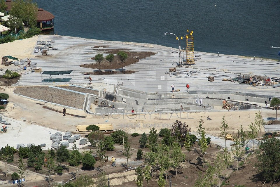 Строительство сквера «Прибрежный» в Днепре: как это выглядит с высоты птичьего полета, - ФОТО, фото-5