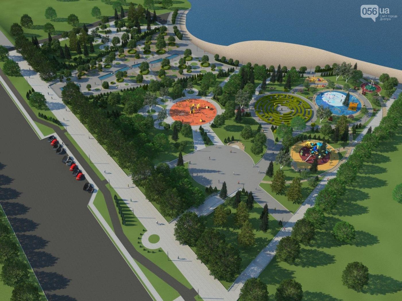 Строительство сквера «Прибрежный» в Днепре: как это выглядит с высоты птичьего полета, - ФОТО, фото-7