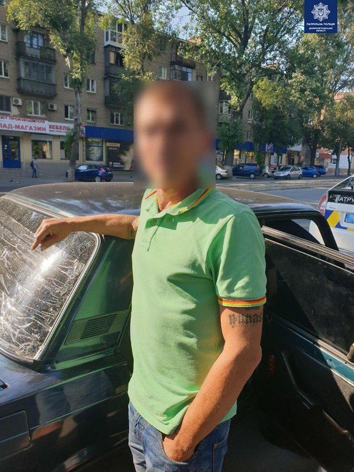 В Днепре мужчины ограбили автомобиль с помощью граббера и попытались скрыться, - ФОТО, фото-1