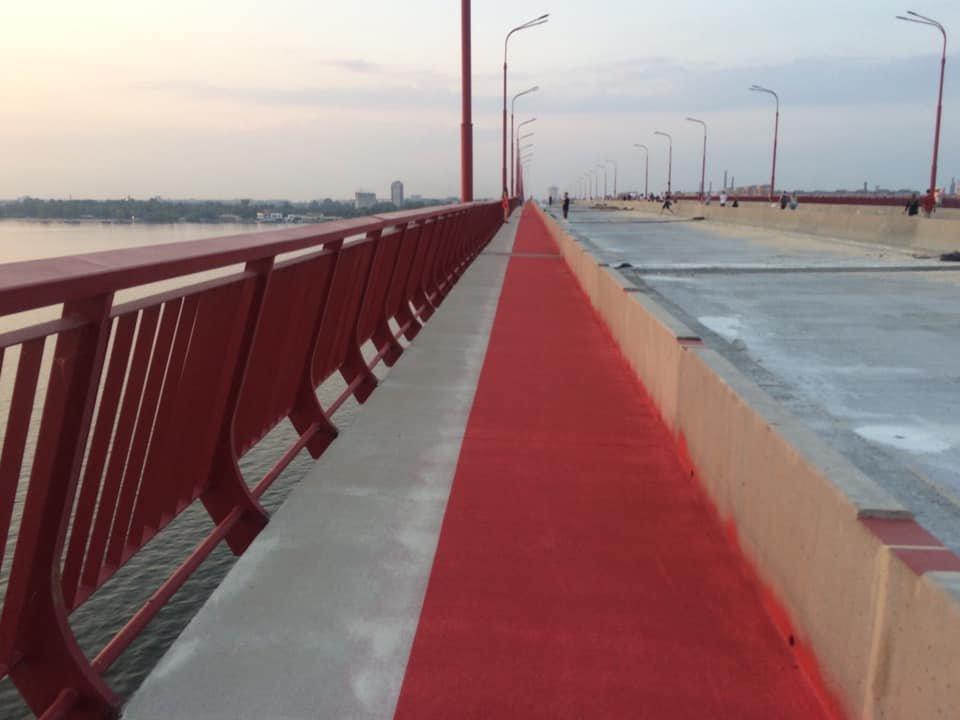 На Новом мосту появилась велодорожка: как это выглядит, - ФОТО, фото-1