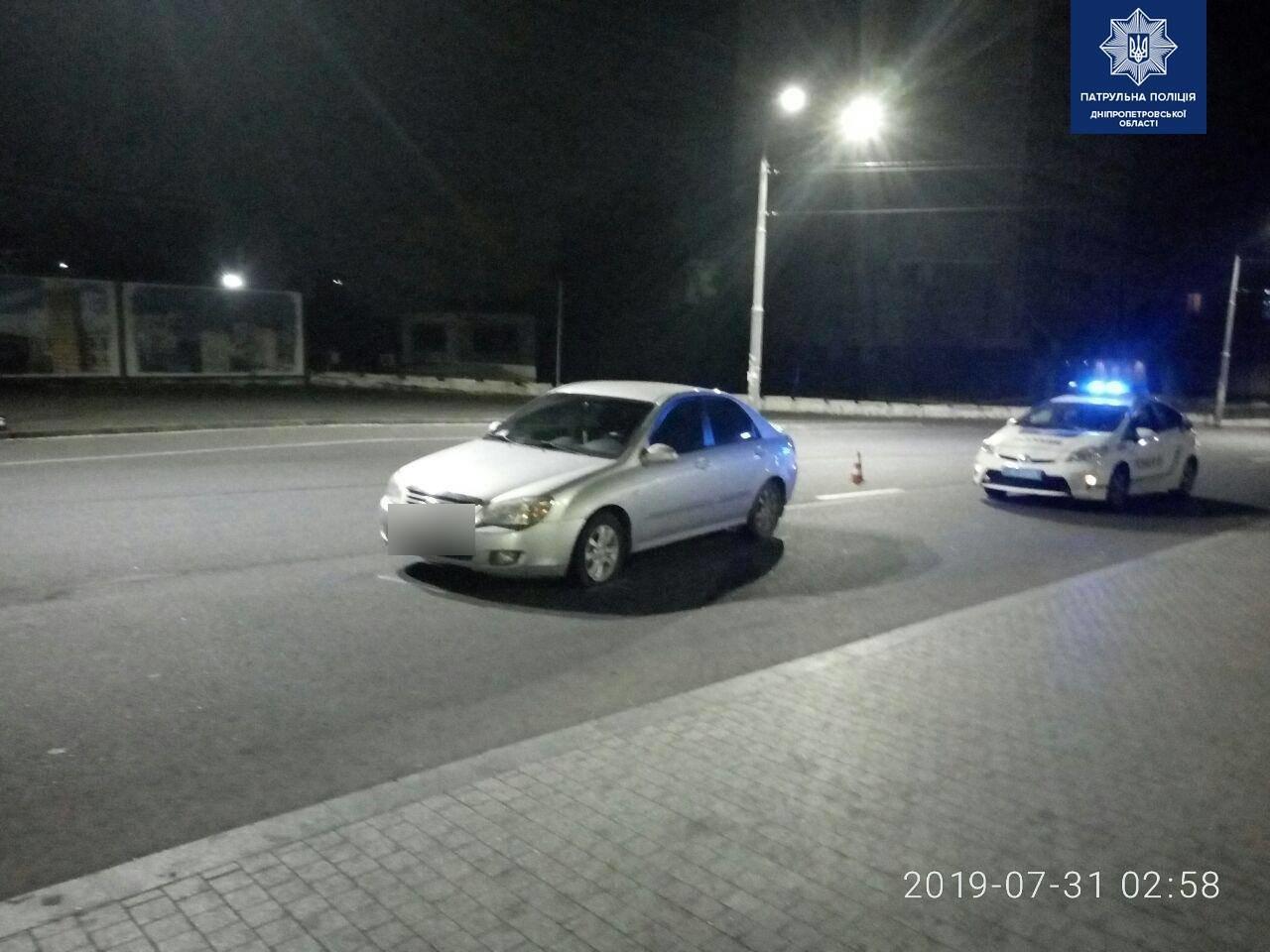 В Днепре задержали иномарку с пьяным 15-летним водителем внутри, - ФОТО, фото-1