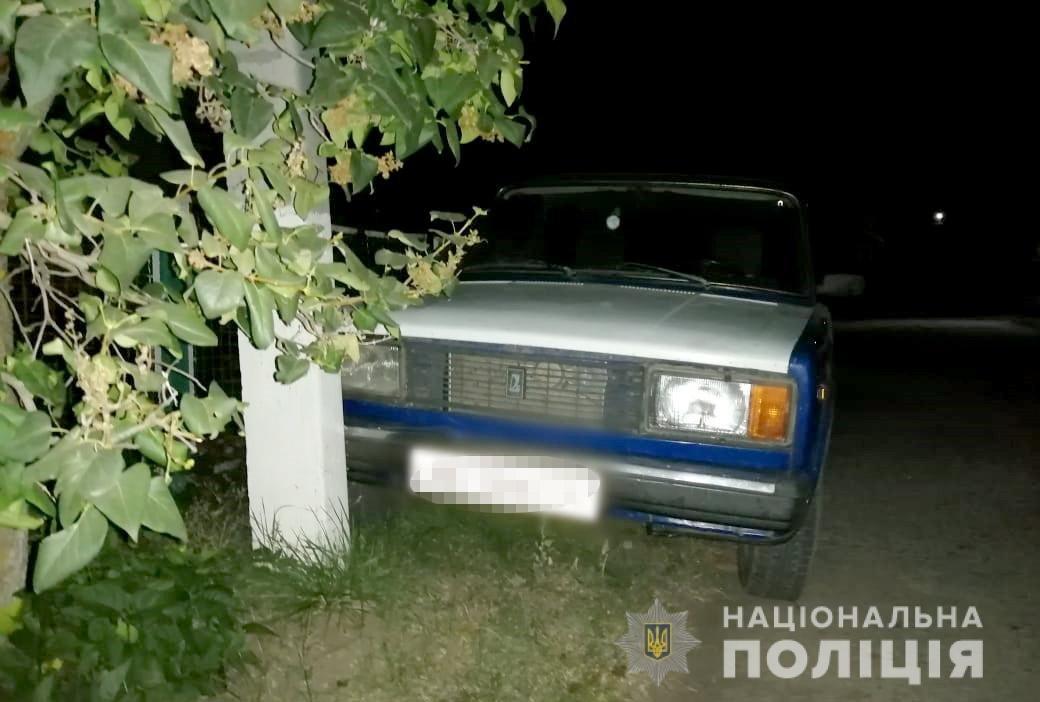 В Днепропетровской области поймали угонщика, который врезался в столб, - ФОТО, фото-1