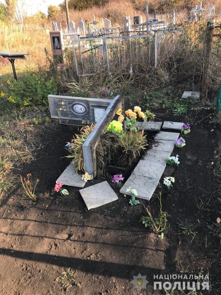 В Днепропетровской области парень разрушал могилы, - ФОТО , фото-1