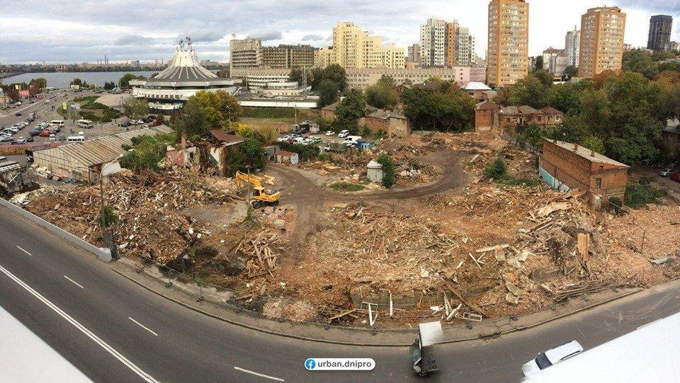В центре Днепра расчищают территорию под строительство нового торгового комплекса, фото-1