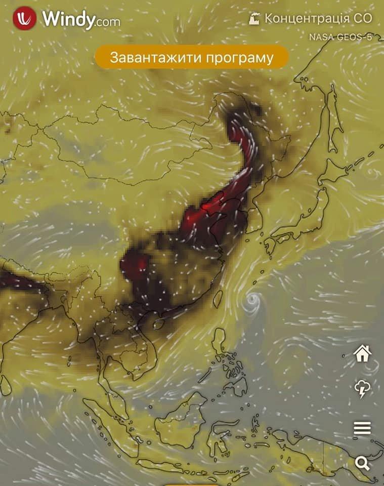 Над Украиной и Днепром сейчас самая высокая концентрация угарного газа в мире, - КАРТА, фото-3
