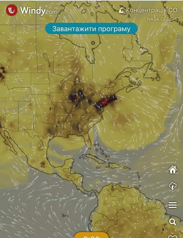 Над Украиной и Днепром сейчас самая высокая концентрация угарного газа в мире, - КАРТА, фото-2