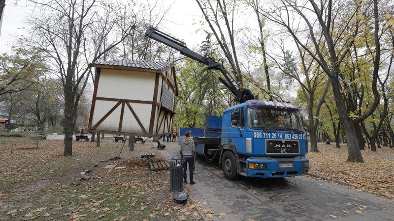В Днепровском парке демонтировали три бесхозных киоска, - ФОТО, фото-6