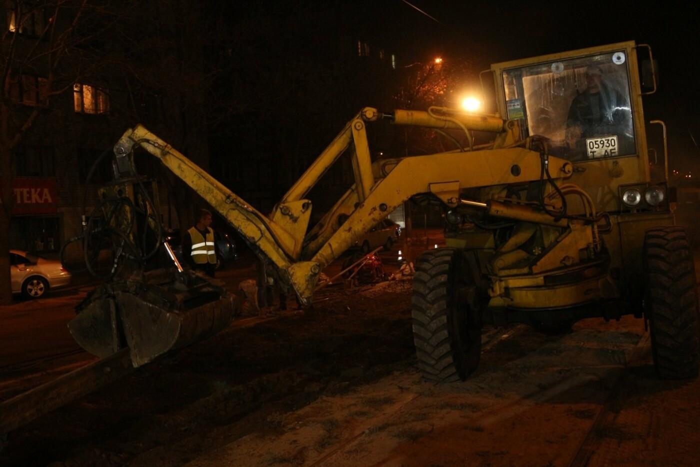 В Днепре ремонтируют аварийный участок трамвайной колеи, - ФОТО, фото-6
