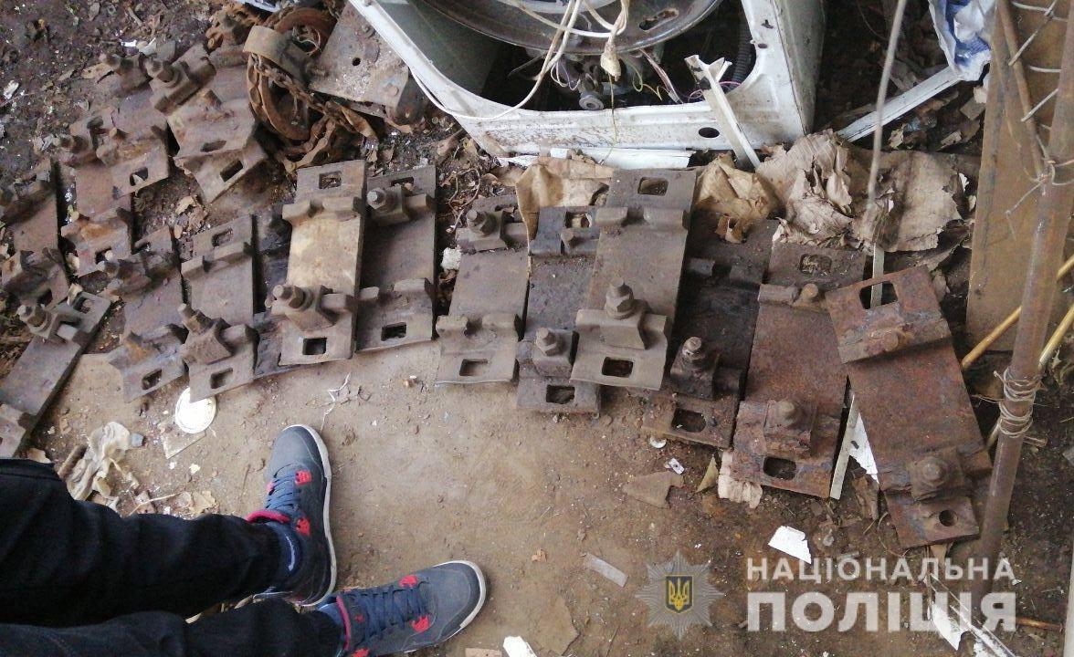 В Днепропетровской области полиция обнаружила более тонны металлолома в незаконном пункте приема, - ФОТО, фото-1