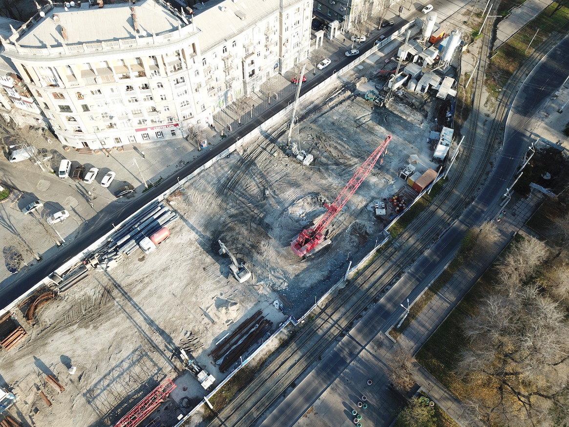Как проходит строительство метро в Днепре: вид сверху, - ФОТО, фото-4