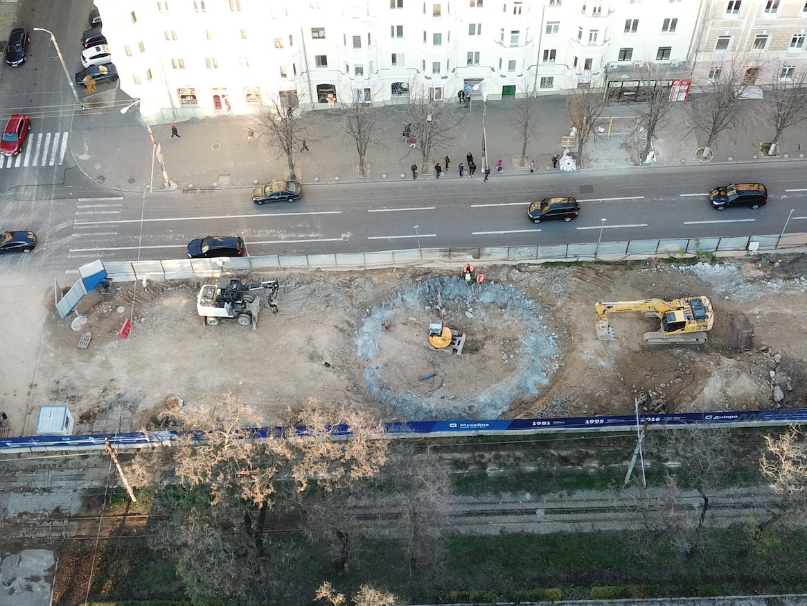 Как проходит строительство метро в Днепре: вид сверху, - ФОТО, фото-6