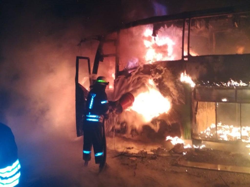 На Днепропетровщине загорелся пассажирский автобус, - ФОТО, фото-3