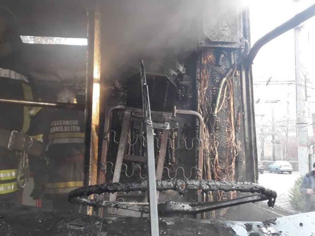 На Днепропетровщине горел пассажирский троллейбус, - ФОТО, фото-2