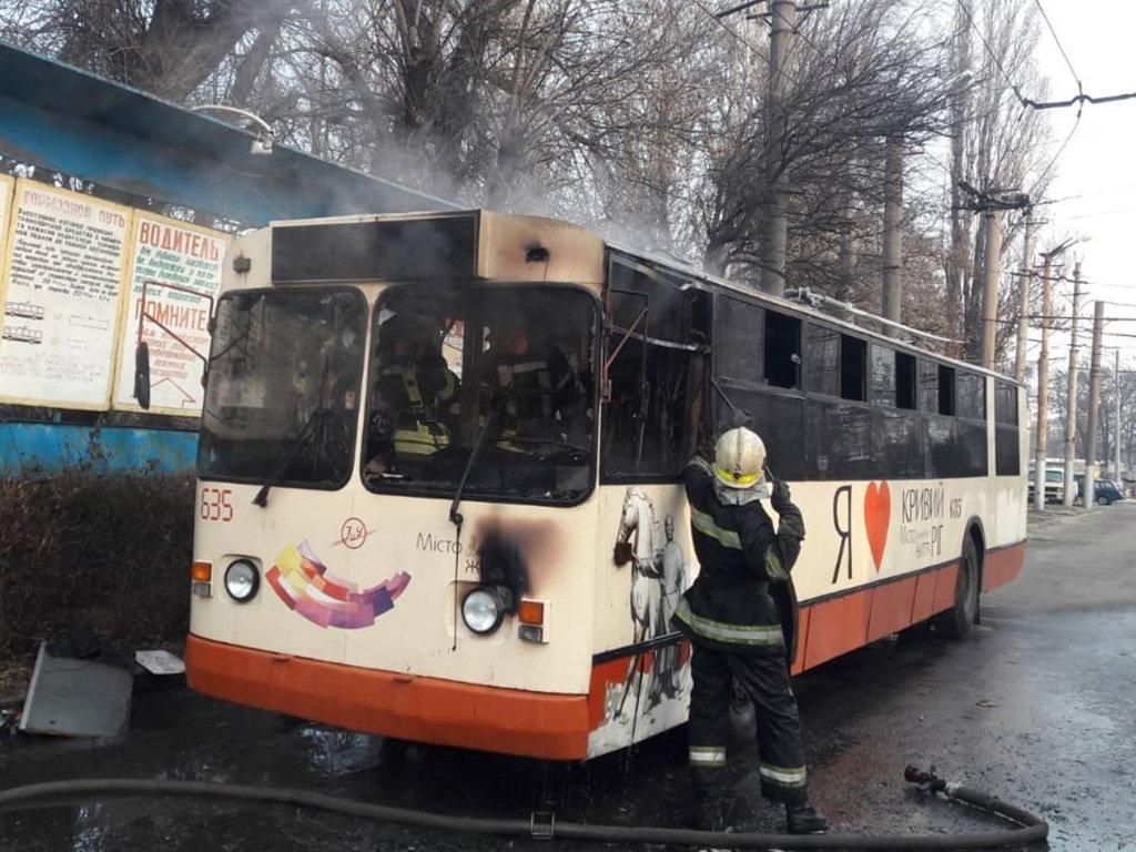 На Днепропетровщине горел пассажирский троллейбус, - ФОТО, фото-3