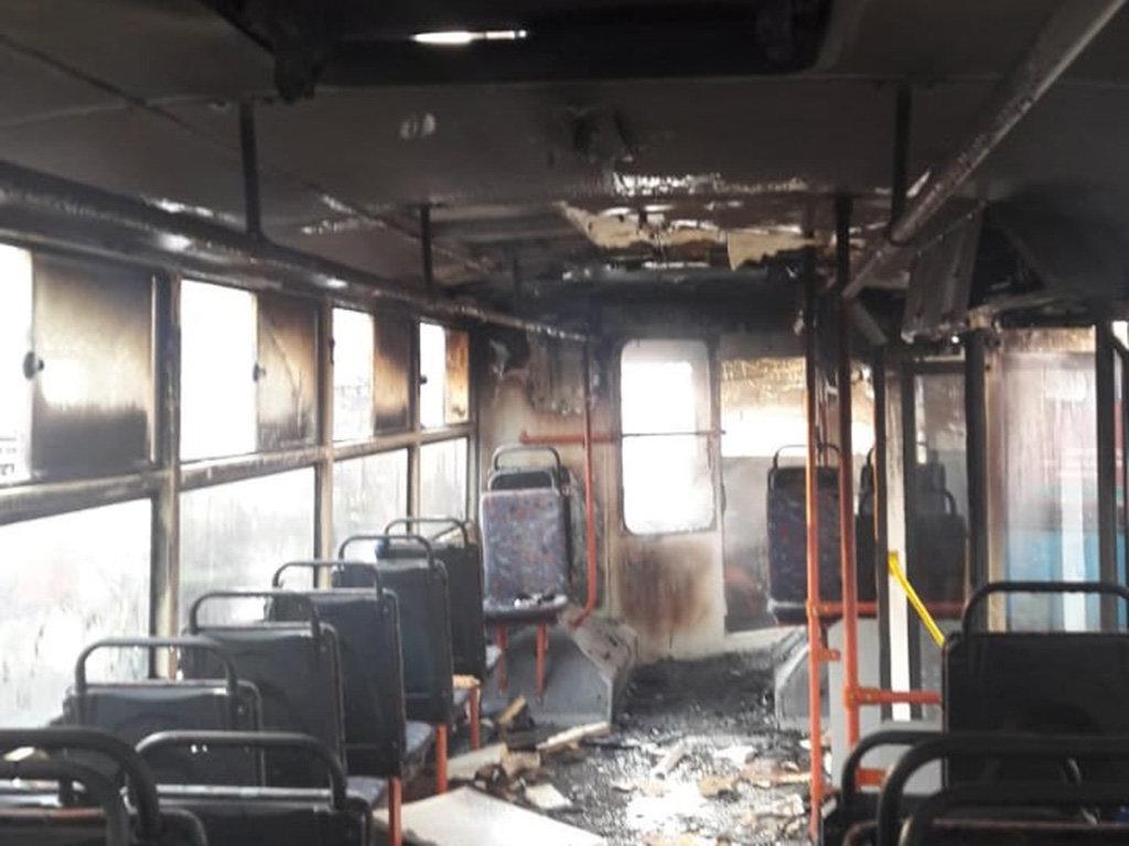 На Днепропетровщине горел пассажирский троллейбус, - ФОТО, фото-1