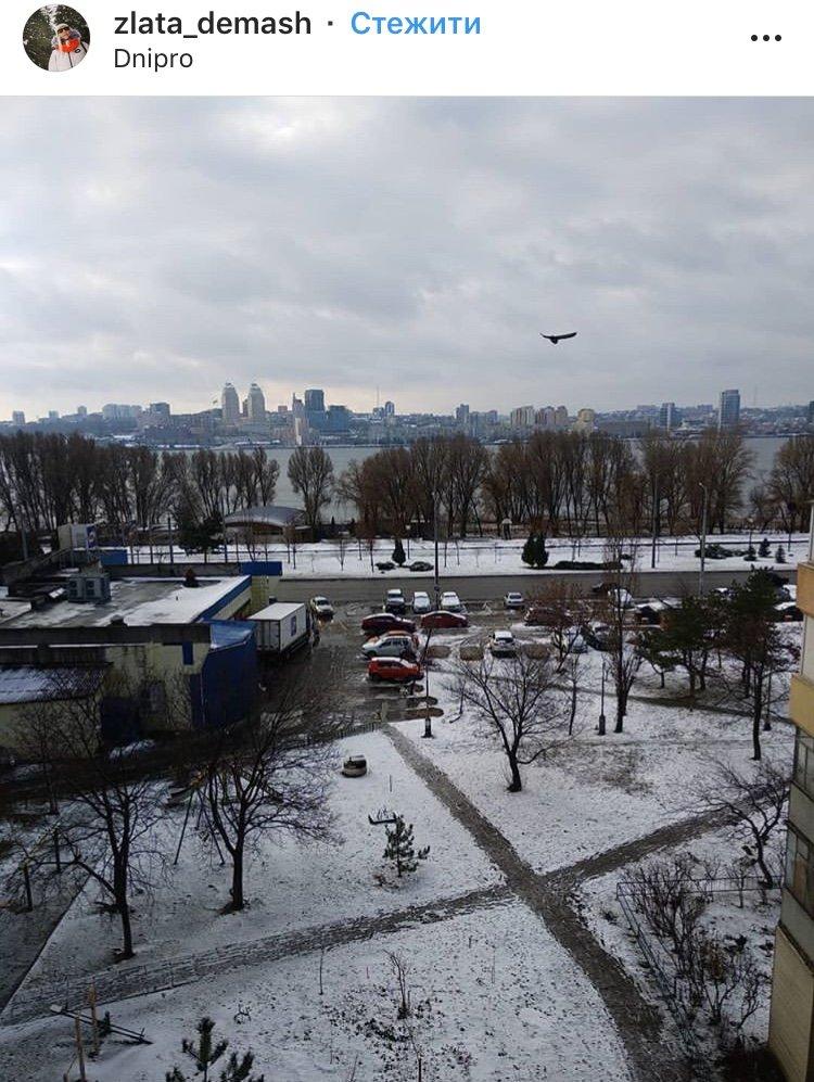 ТОП фотографий первого снега в Днепре от горожан, фото-1