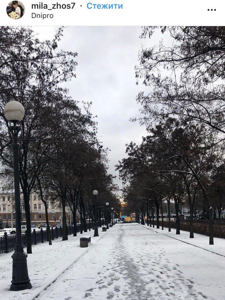 ТОП фотографий первого снега в Днепре от горожан, фото-7