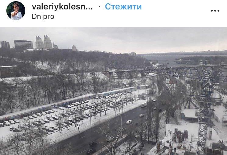 ТОП фотографий первого снега в Днепре от горожан, фото-9