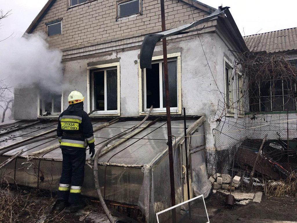 В Днепровском районе на пожаре пострадал мужчина, - ФОТО, фото-1
