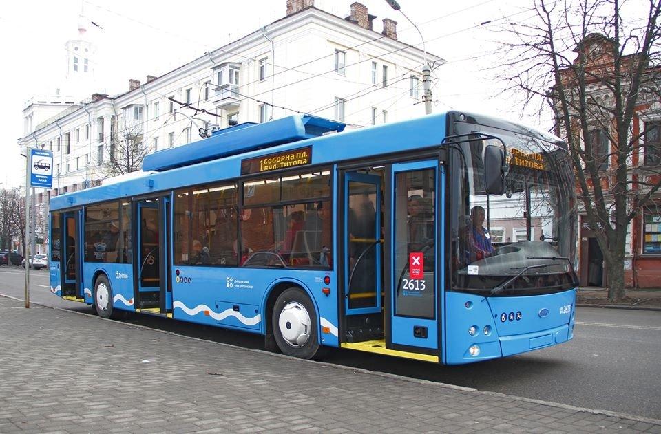 В Днепре разделили общественный транспорт по цветам и показали синие троллейбусы, - ФОТО, фото-1