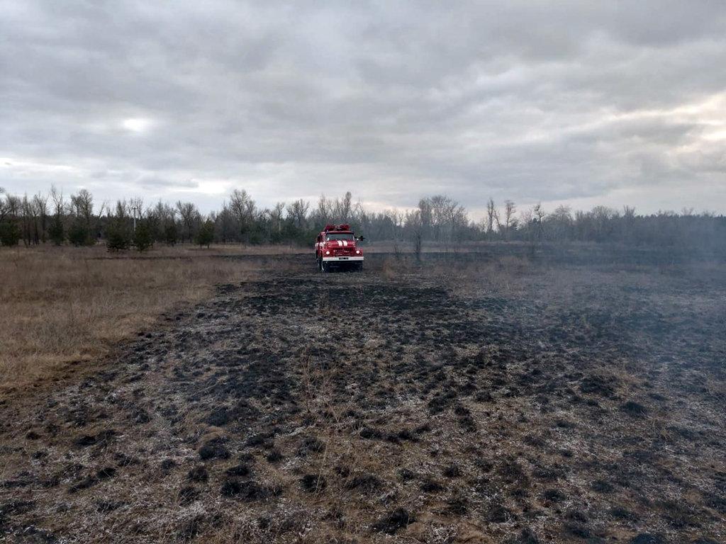 На Днепропетровщине на открытой местности горела сухая трава, - ФОТО, фото-3