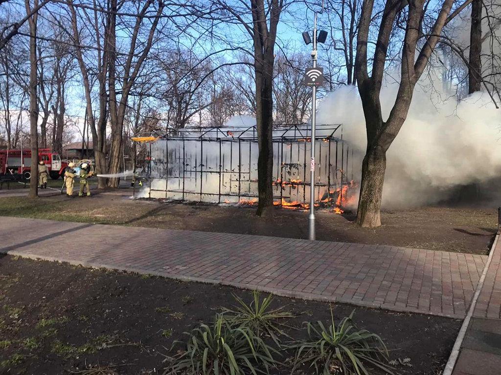 В Днепропетровской области горел детский аттракцион, - ФОТО, фото-1