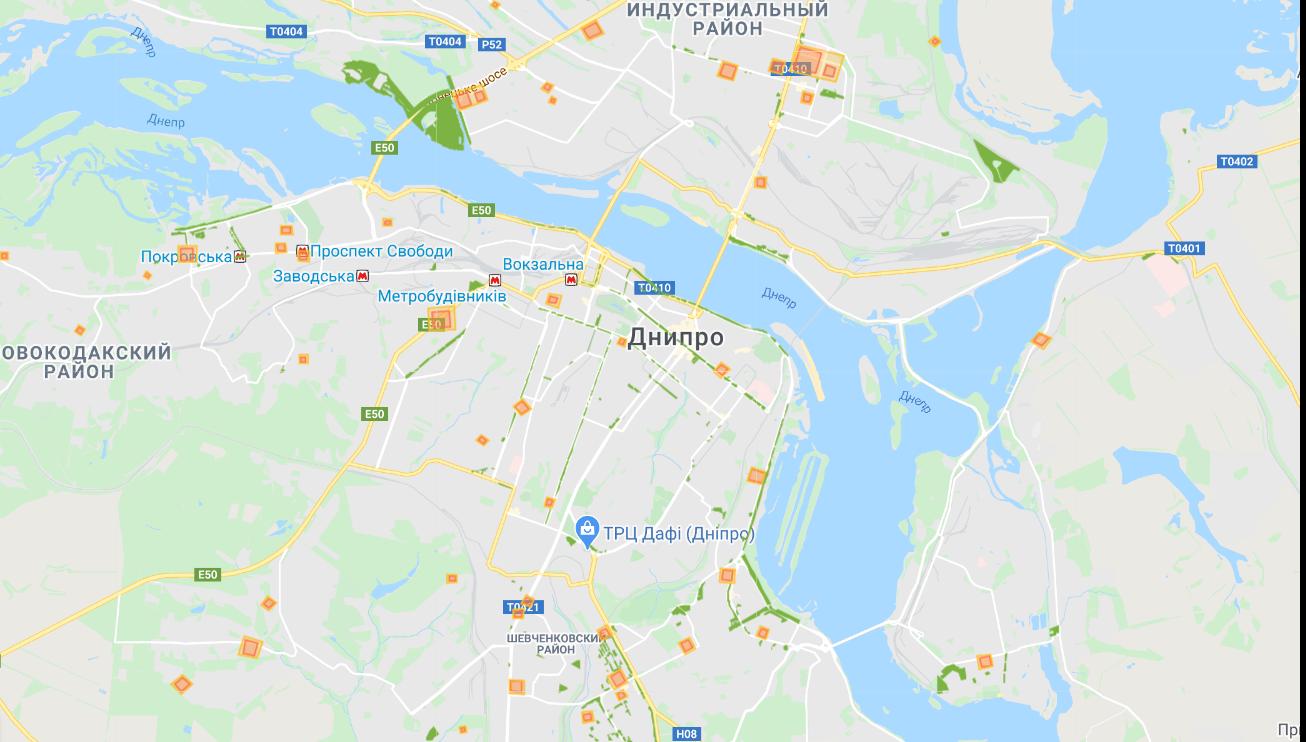Ослабление карантина: в Днепре появилась карта зеленых зон, которые можно посещать с 4 мая, - ОНЛАЙН-КАРТА, фото-1