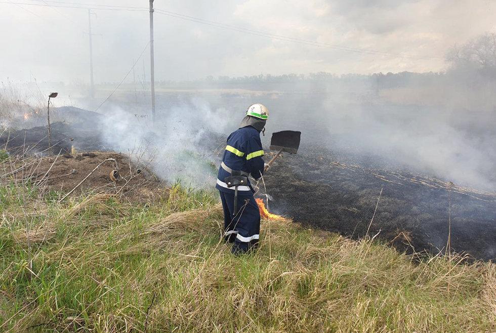 13 пожаров за сутки: спасатели просят жителей Днепропетровщины не сжигать траву, - ФОТО, фото-3
