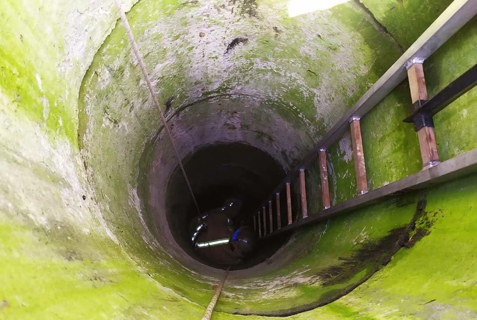 Под Днепром из 6-метрового колодца пожарные спасали теленка, - ФОТО, ВИДЕО, фото-1