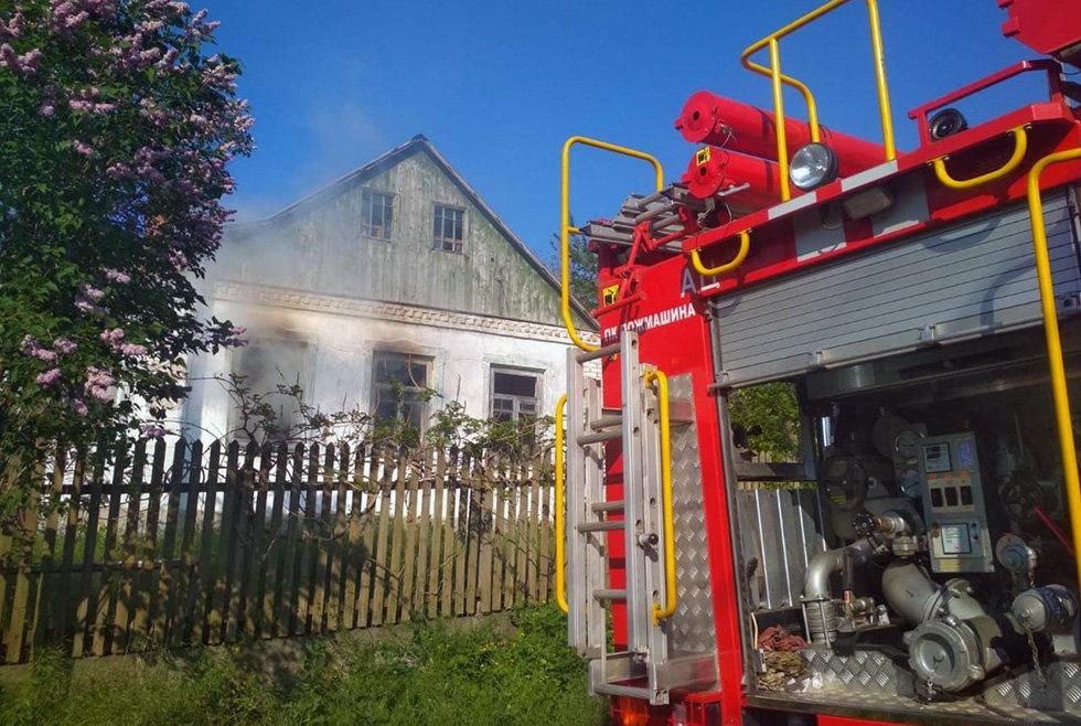 На Днепропетровщине час тушили пожар в жилом доме, - ФОТО, фото-1