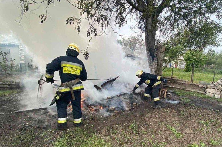 В Днепре на территории частного домовладения произошел пожар, - ФОТО, фото-1