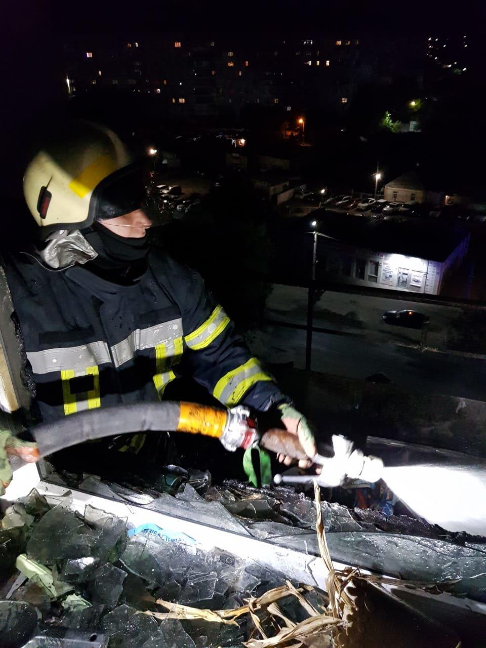 На Днепропетровщине горел балкон девятого этажа многоэтажки, - ФОТО, фото-2