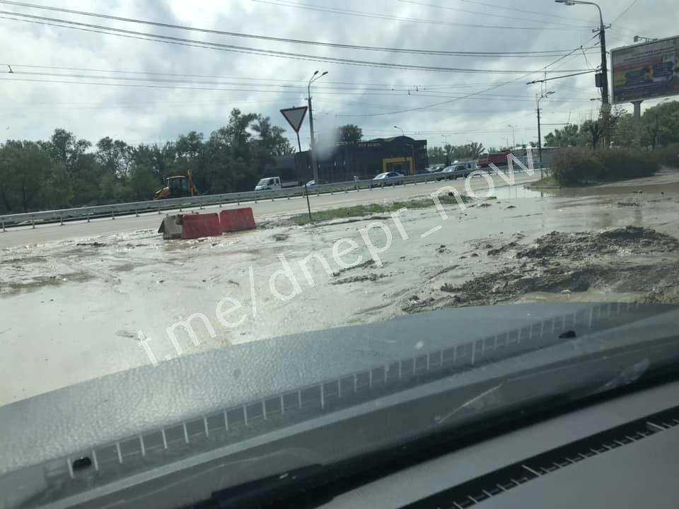 Дождь размыл Крестьянский спуск в Днепре: на дорогах появились огромные дыры, - ФОТО, фото-3