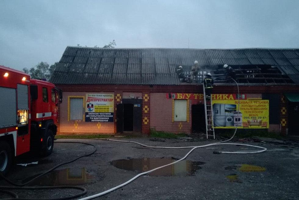 В Днепропетровской области сгорел магазин с использованной бытовой техникой, - ФОТО, фото-4