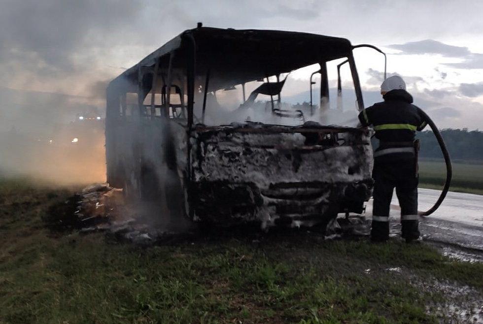 На Днепропетровщине горел рейсовый автобус, - ФОТО, фото-2
