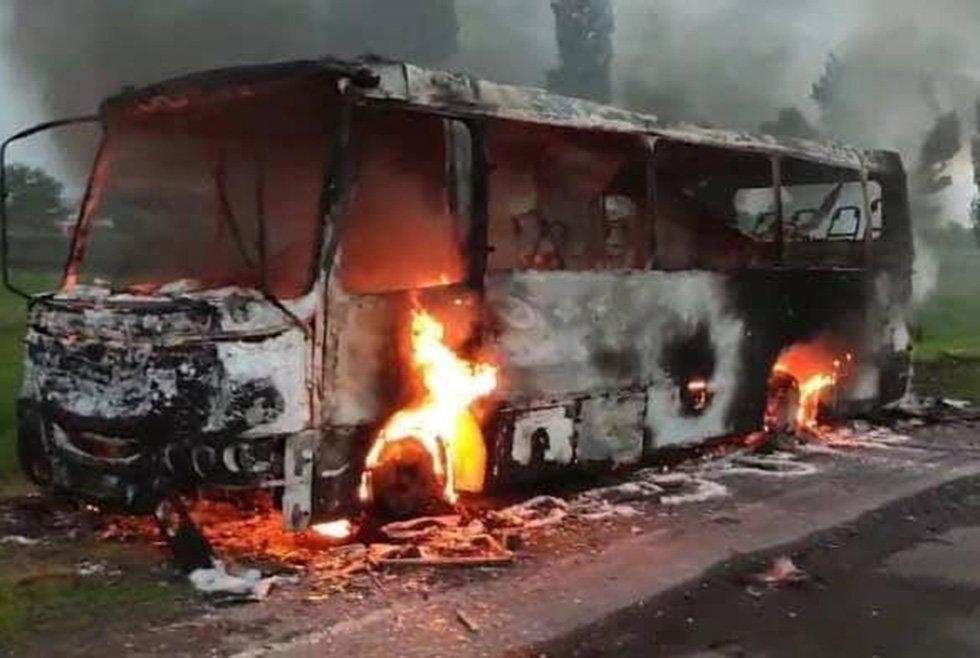 На Днепропетровщине горел рейсовый автобус, - ФОТО, фото-1