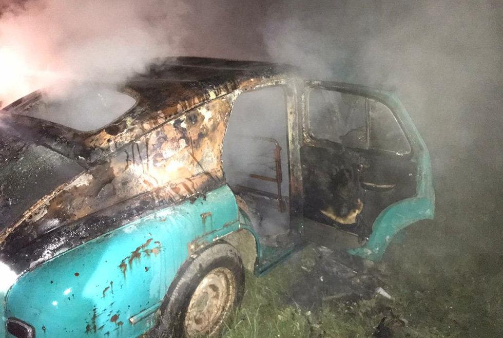 В Днепропетровской области загорелся автомобиль на стоянке, - ФОТО, фото-3