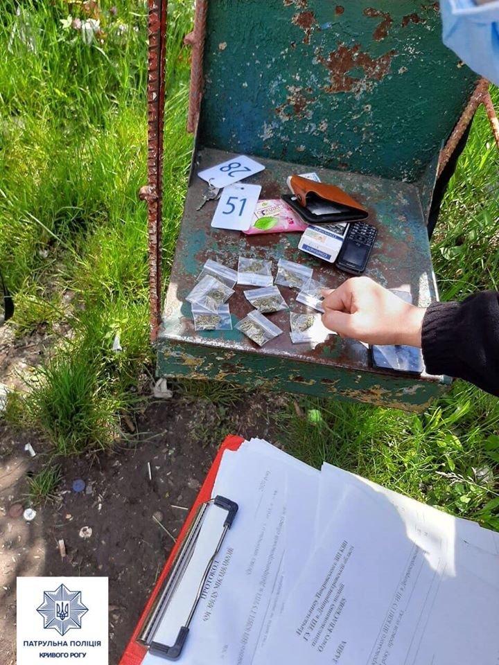 В Днепропетровской области патрульные нашли у 18-летнего 9 слип-пакетов с наркотиками, - ФОТО, фото-1
