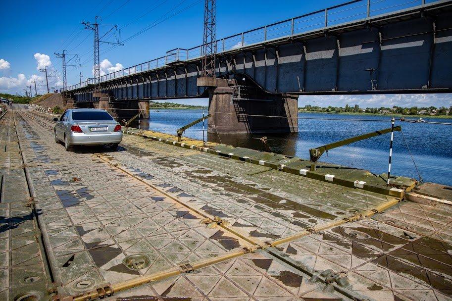 В Днепропетровской области открыли временный понтонный мост, - ФОТО, ВИДЕО, фото-7