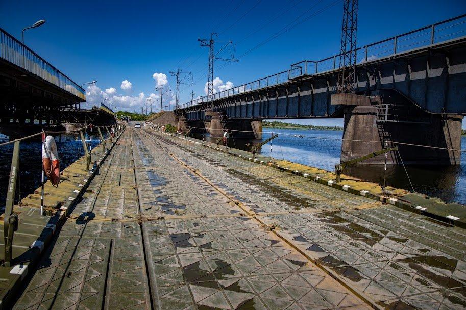 В Днепропетровской области открыли временный понтонный мост, - ФОТО, ВИДЕО, фото-3