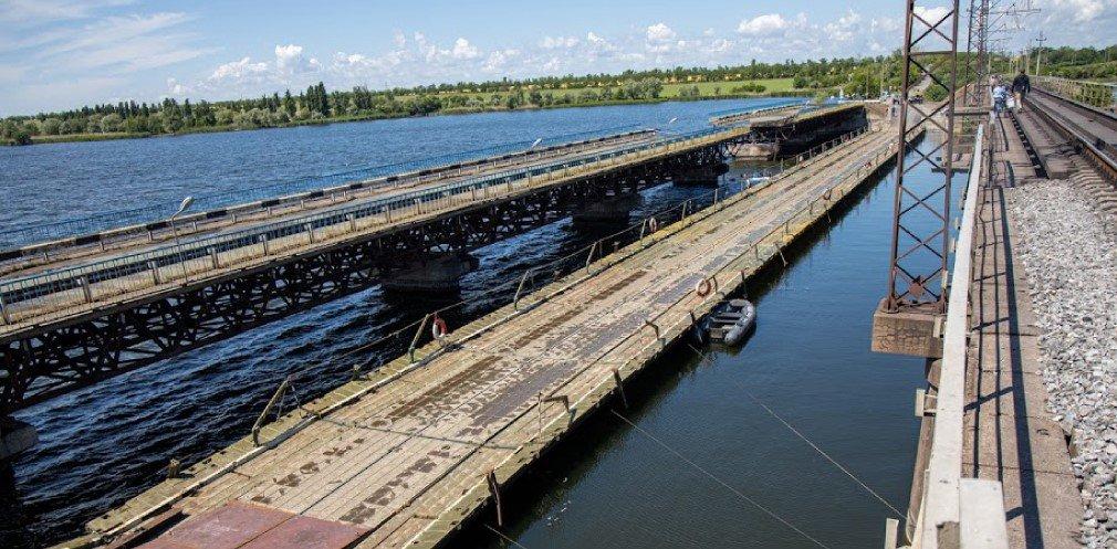 В Днепропетровской области открыли временный понтонный мост, - ФОТО, ВИДЕО, фото-1