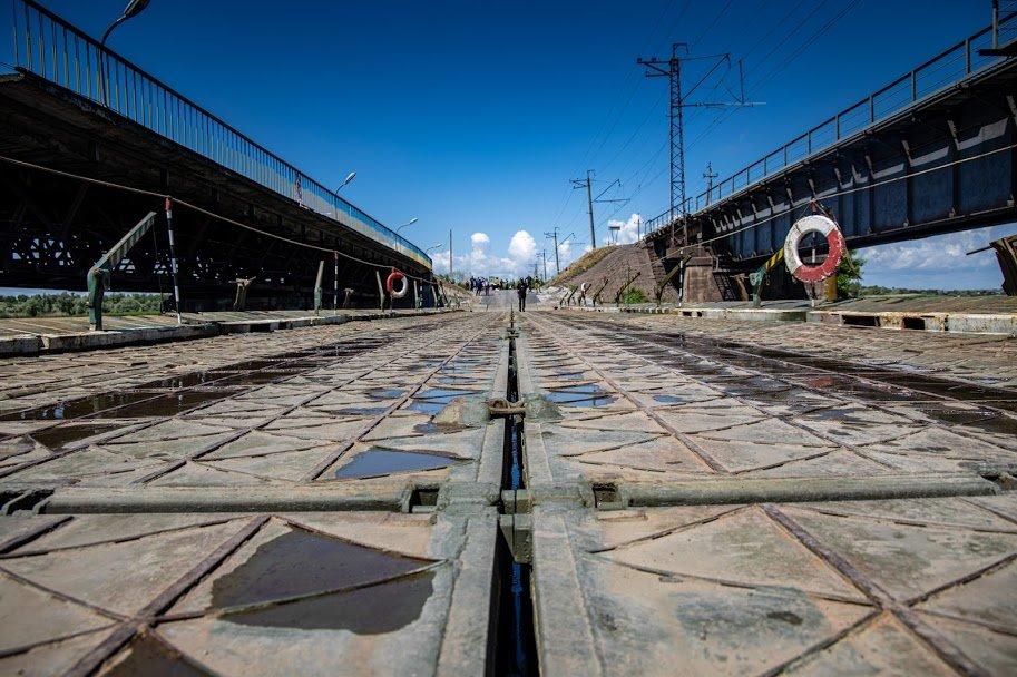 В Днепропетровской области открыли временный понтонный мост, - ФОТО, ВИДЕО, фото-4