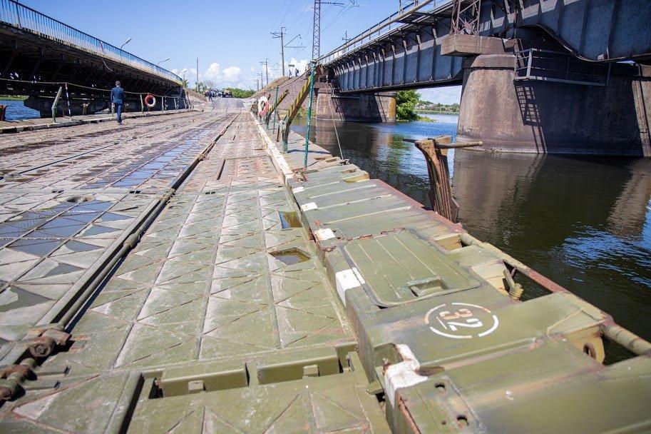 В Днепропетровской области открыли временный понтонный мост, - ФОТО, ВИДЕО, фото-5