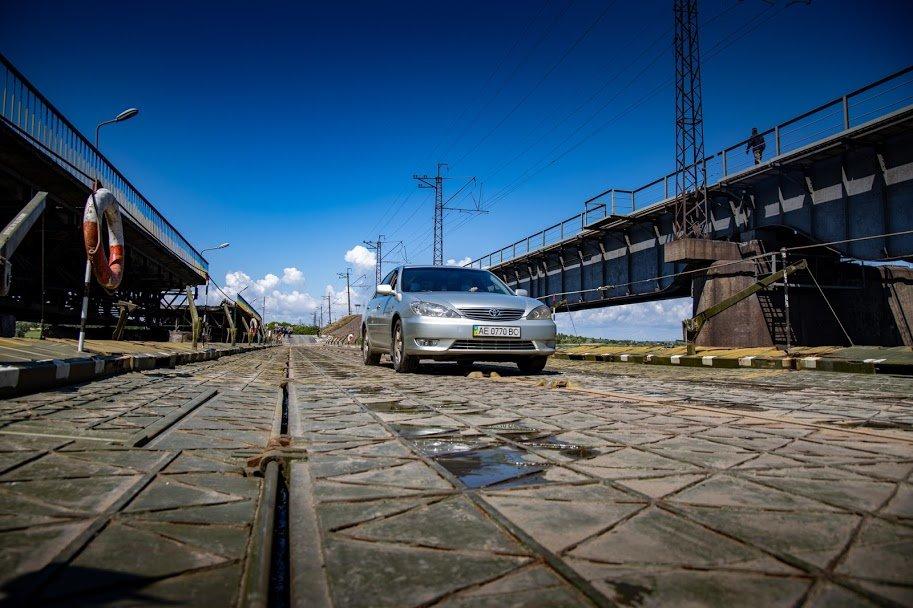 В Днепропетровской области открыли временный понтонный мост, - ФОТО, ВИДЕО, фото-6