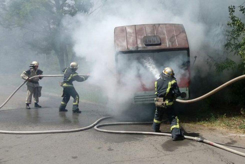 Под Днепром загорелся КАМАЗ, - ФОТО, фото-2