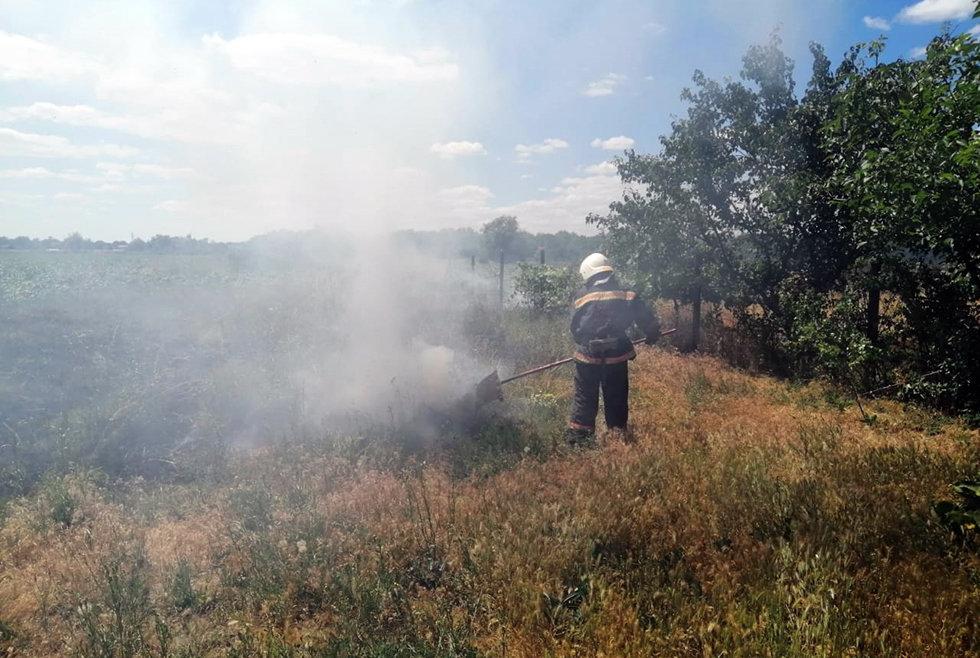 20 пожаров за сутки: спасатели просят жителей Днепропетровщины не сжигать траву, - ФОТО, фото-3