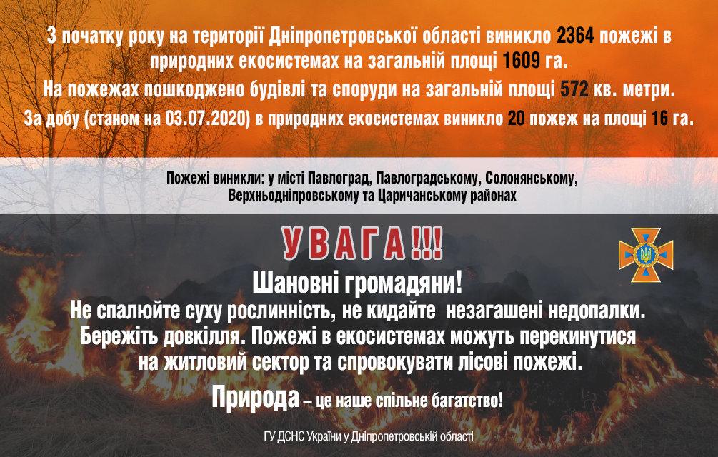 20 пожаров за сутки: спасатели просят жителей Днепропетровщины не сжигать траву, - ФОТО, фото-1