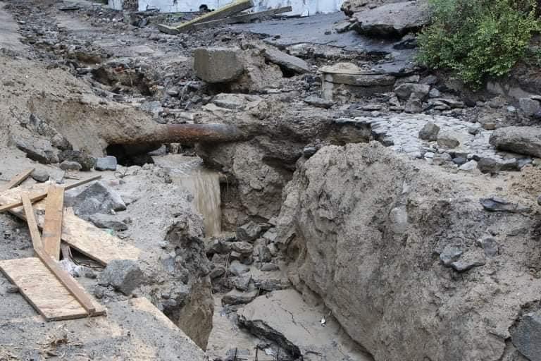 В Днепре на Крестьянском спуске в третий раз за два месяца размыло дороги, - ФОТО, фото-4